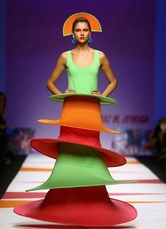 Updated flamenco...this fruity delight is made out of pineapple fabric.  Madrid fashion week.  #jetsettercurator