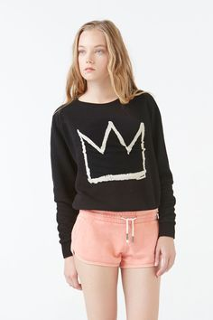 ELEVENPARIS x Basquiat Black Crown Sweatshirt