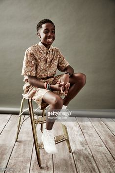 Actor Caleb McLaughlin from Netflix's 'Stranger Things' poses for a portrait during the 2016 Television Critics Association Summer Tour at The Beverly Hilton Hotel on July 27, 2016 in Beverly Hills, California.