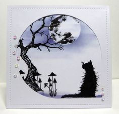 Our Creative Challenge theme for February is The Full Moon Here are some examples from our talented design team to inspire you and fire your imagination. The contest is open for entries from the Lavinia Stamps Cards, Cat Cards, Greeting Cards, Alcohol Ink Art, Halloween Cards, Homemade Cards, Stampin Up Cards, Cardmaking, Birthday Cards