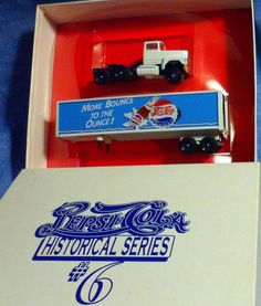 "Winross Pepsi Cola Historical Series #6 ""More Bounce to the Ounce"" truck trailer #Winross"