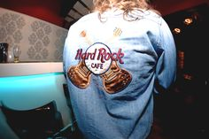 Vintage Hard Rock Cafe embroided denim jacket