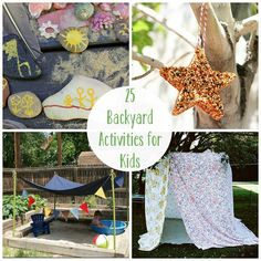 25 Summer Backyard Activities for Kids - some of which we can do before we get grass ;)