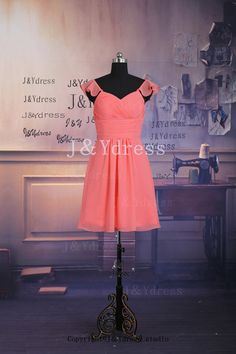 Straps Sweetheart Short Length Chiffon Bridesmaid Dress 2014 Ariel!!