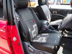 ペンドルトンコラボシートカバー(サンミゲル):運転席 :ムーンアイズストリートカーナショナルズ出展車両 Toyota landcruiser prado 95 x Pendleton mooneys street car nationals