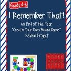 "Lesson plans for an ""End of the Year"" 11 day unit where Grade 4-6 students learn about and create board games meant to review concepts taught throughout the year. All game templates included. $"