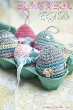 Smitten with it all...: *FREE* Pattern for Crochet Easter Eggs