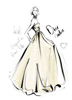 Megan Hess Illustrations Dior