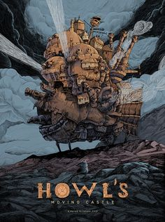 Howl's Moving Castle by Raf Banzuela – Home of the Alternative Movie Poster -AMP- – Animation ideas Studio Ghibli Poster, Studio Ghibli Films, Art Studio Ghibli, Howl's Moving Castle, Howls Moving Castle Wallpaper, Hayao Miyazaki, Personajes Studio Ghibli, Alternative Movie Posters, Fight Club