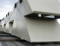 Rectangular Fan Intake Silencers with Integral Weather Hood - dB Noise Reduction
