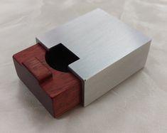 Aluminium Verre en Haut Bague Boîtier Organiseur Noir Présentoir W//Lock/&key