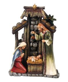 Take a look at this Resin Holy Family Figurine by Transpac Imports on #zulily today!