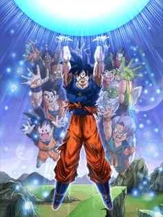 GenkiDama by mr. Dragon Ball Z, Anime Echii, Anime Comics, Goku Vs Buu, Manga Font, Thanos Avengers, Manga Dragon, Akira, Anime Characters