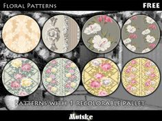 Floral Patterns by Mutske  http://www.thesimsresource.com/downloads/1139056