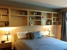 Cool book shelves in Condo that's for Sale in North Hollywood CA.