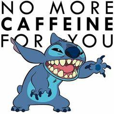 No More Caffeine For You,stitch picture.credito al autor Lilo Stitch, Lilo And Stitch Memes, Lelo And Stitch, Cute Stitch, Disney Stitch, Lilo And Stitch Drawings, Cute Disney Wallpaper, Cartoon Wallpaper, Disney And More