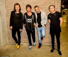 One Direction first official foursome photo taken here in Cape Town!!! This is what they were wearing at the concert...still can't believe I saw them!!!