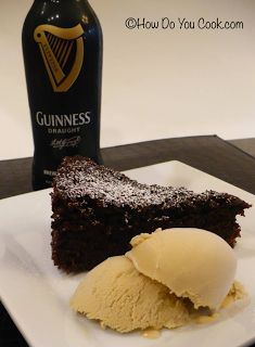Chocolate Guinness Cake and Guinness Ice Cream