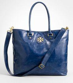 8699b9600 Tory Burch $450.00 Blue Crush, Tote Handbags, Saddle Bags, Marine Blue, Tory