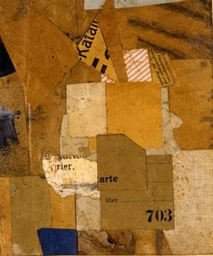 Kurt Schwitters  Untitled (Katan or 703), c. 1921, Fabric and paper collage on paper, 15 x 12.1 cms (5 7/8 x 4 3/4 ins)