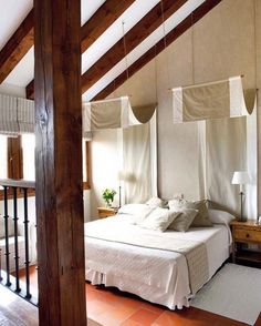 Check Out 39 Dreamy Attic Bedroom Design Ideas. An attic bedroom is usually associated with romance because it's great to get the necessary privacy. Loft Bedroom Decor, Attic Bedroom Designs, Attic Bedrooms, Attic Design, Home Bedroom, Bedroom Ideas, Design Bedroom, Canopy Design, Ikea Bedroom
