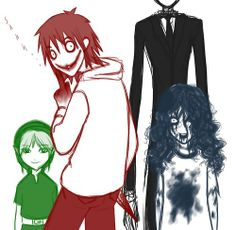 Ben, Jeff, Sally and Slenderman