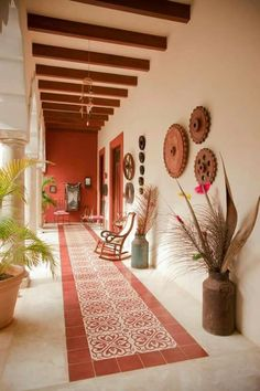 Amazing Modern Adobe House Exterior Design Ideas - Home: Living color Hacienda Style Homes, Spanish Style Homes, Spanish House, Spanish Colonial, Mexican Style Homes, Hacienda Decor, Spanish Revival, Adobe Haus, Fachada Colonial