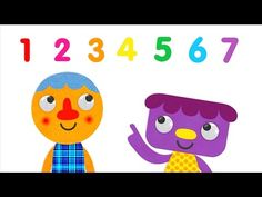 Number recognition/order - 1-7 forward and backward - song and animation - Super Simple Song