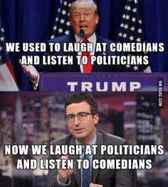 Comedians and politicians
