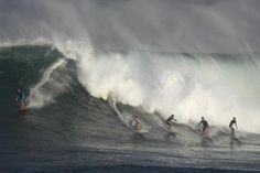 Big Surf as Seen on a Drive to Oahu's North Shore - Photo by Kent Nishimura/Getty Images