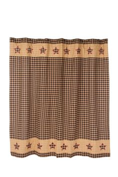 Bingham Star Shower Curtain Dress up your bathroom with one of our primitive country shower curtains. We also have coordinating country curtains for a complete new look. Each shower curtain measures 7