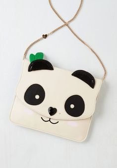 Panda One, and a Two Bag by Betsey Johnson - Multi, Casual, Cocktail, Girls Night Out, Quirky, Critters, Better, Kawaii