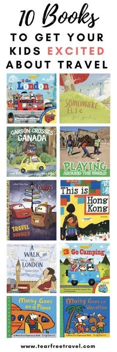Looking for some children's books to get your kids excited about travel? Look no further, here is my top 10 list of picture books we've loved to get excited about family trips and family vacations. From taking a plane for the first time to going camping,