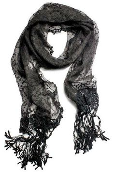 Sheer Lace Long Scarf