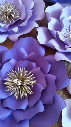 Telón de fondo de flores de papel para cumpleaños pared de