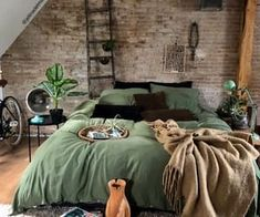Rustic Boho Loft The decoration of home is similar to an exhibition space that reveals our tastes and design ideas and then we naturally . Room Ideas Bedroom, Home Decor Bedroom, Modern Bedroom, Contemporary Bedroom, Master Bedroom, Bedroom Colors, Bedroom Designs, Bedroom Romantic, Bedroom Simple
