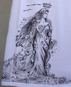 """"""" Arte exclusiva do Atelier Sandra"""" *********************************************************************** - PINTURA ARTESANAL - A arte é feita inteiramente com pintura manual, sem nenhuma aplicação industrial - Pintura com tinta fosca - Medidas da arte (largura x altura): Iemanja = 30 c..."""