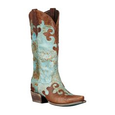 Slide into these rugged cowboy boots for women, and you might feel like you need a hat and a horse. Turquoise and gold accents increase the feminine appeal, while the low heel and padded footbed provide the comfort that your feet crave.