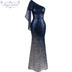 Angel-fashions Long Evening Dress Vintage Sequin Gradient Mermaid Dresses Blue 286     Tag a friend who would love this!     FREE Shipping Worldwide     Buy one here---> https://www.savingsonfashion.com/angel-fashions-long-evening-dress-vintage-sequin-gradient-mermaid-dresses-blue-286/
