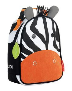 What a fun lunch buddy! This small zebra backpack tote holds snacks, lunches, and drinks. Click above to buy one.