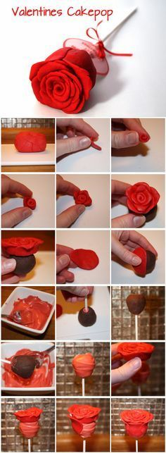 Valentines Cake pop - For all your cake decorating supplies, please visit craftcompany.co.uk