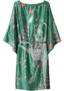 tsumori chisato, ballet printed silk dress