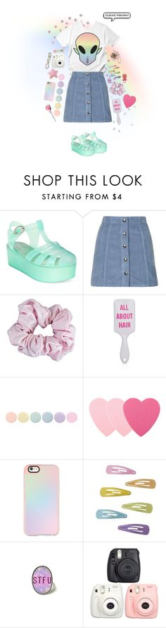 """""""EZO STYLE - EZO ALIEN"""" by runwithfashion ❤ liked on Polyvore featuring Wanted, Topshop, American Apparel, Deborah Lippmann, Sephora Collection and Casetify"""