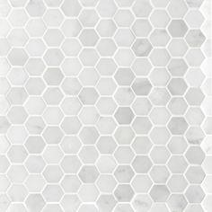Tosca Glacier Hexagon Small Mosaic x Sheet White Mosaic Tiles, Hexagon Tiles, Bathroom Renos, Bathrooms, White Bathroom, Bathroom Ideas, Beaumont Tiles, Penny Tile, Curved Walls