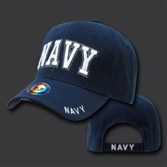 US #NAVY TEXT CAP