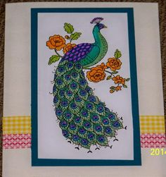 Perfect peacock by SusieQ-lovesStampi - Cards and Paper Crafts at Splitcoaststampers