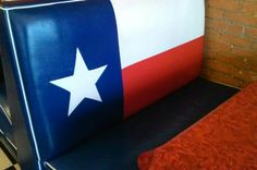 Booth in a restaurant in Garland Texas.