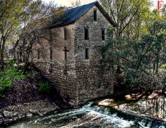 There is not much left in the abandoned village of Cedar Point in the Flint Hills of Kansas. This is the historic old mill.