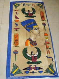 EGYPT 100% EGYPTIAN COTTON TOWEL TOWELS BATH & BEACH PHARAOH QUEEN NEFERTITI  #ELBarakaFactory