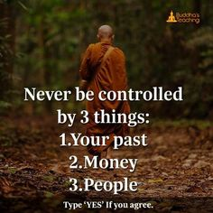 Never be controlled